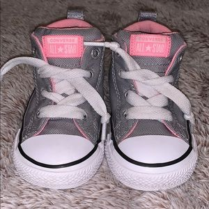 Pink and Gray Converse